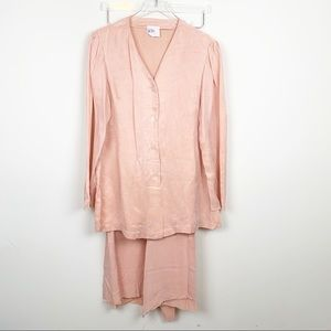 Vintage | Unique Peach Silk Handmade Set